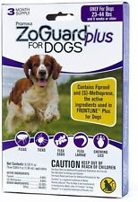 ZoGuard Plus Flea and Tick Drops for Medium Dogs, 23-44 lbs, 3 Months