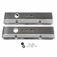 Edelbrock 4262 Elite II Polished Aluminum Valve Covers Small Block Chevy V8's