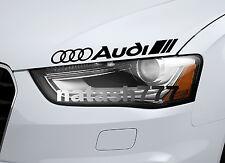 AUDI Vinyl Decal Sticker Performance Sport Car logo BLACK
