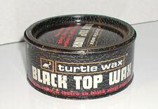 VINTAGE TURTLE WAX BLACK TOP WAX RESTORES COLOR LUSTRE TO VINYL TOPS TIRES 7 OZ