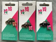 3 LONDON BLACK TAXI CABS OLYMPIC & PARALYMPIC LOGO PIN BADGES 2012 Olympic Games