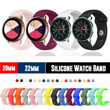 20/22mm Silicone Sport Band Strap for 42/46mm Samsung Galaxy Watch/ Active2 40mm
