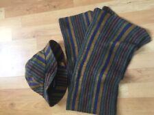 Fabrizio Berardi -  Green/blue striped Matching Hat and Scarf