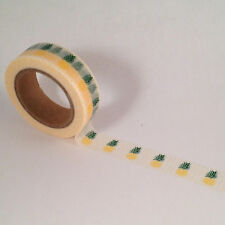 PINEAPPLE washi tape planner decorate scrapbook tropical