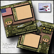 National Guard 2 premade scrapbook pages layout paper piecing military Cherry