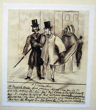 L'umorismo Vittoriano il plebeo Ombrello scuola inglese inchiostro C1850