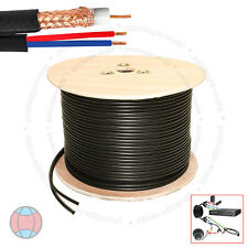 New High Quality 100 Meter Shotgun RG59 Video And 2 Power CCTV Camera Cable Lead