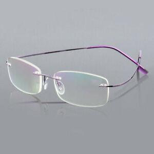 Hot Ultralight Titanium Rimless Reading Rectangular Eyeglass Reading Glasses