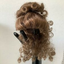 Hand Styled Doll Wig Global Doll Lady 9-10 Lt. Brown Long Curls No Bangs NOS