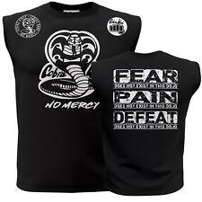 New Cobra Kai No Mercy Quote Karate kid ufc mma Adult Sleeveless Muscle Shirt T