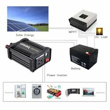 200W 12V DC to AC 110V Car Power Inverter Converter Charger with Dual USB Outlet