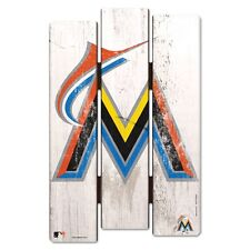 """MIAMI MARLINS FENCE WOOD SIGN 11""""X17'' BRAND NEW FREE SHIPPING WINCRAFT"""
