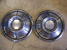 """1970 71 DODGE CHARGER HUBCAPS WHEEL COVERS 14"""" (2) CORONET CHALLENGER"""