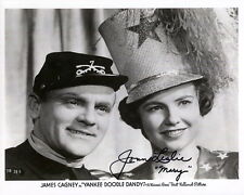 JOAN LESLIE HAND SIGNED 8x10 PHOTO+COA            RARE POSE WITH JAMES CAGNEY