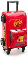 Official Disney Cars 3 Lightning McQueen Rolling Luggage Case Trolley VGC