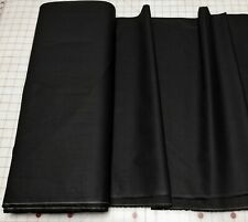 Solid Black Algodón Cotton Quilting Fabric Masks Apparel Shirting