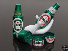 1pc Green Beer Bottle Style 3 PART Metal Manual Herb Spice Tobacco Grinders #150