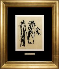 Willem De Kooning 1988 Original Lithograph with signature on two sheets rare in