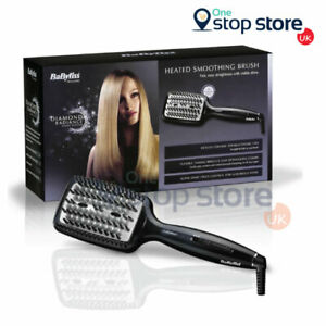 BaByliss Diamond Radiance Straightening Heated Smoothing Brush For All Hair 2440