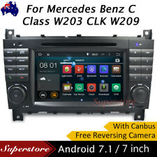 "7"" Car DVD GPS Navigation For Mercedes Benz C Class W203 CLK W209 Android 7.1"
