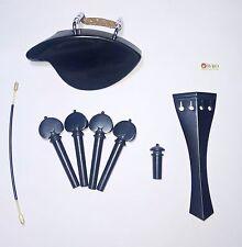Ebenholz Kinnhalter Violine Set.Dresden Parts, Saitenhalter Englisch, Herz-Pegs,