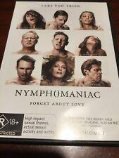NYMPHOMANIAC Volume 1 Charlotte Gainsbourg DVD R4 PAL