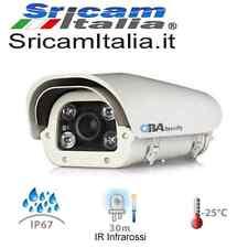 Telecamera lettura targhe  2,0 mp Varifocal 10x  ANPR LPR IR Infr analogica