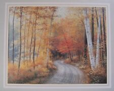 """Print of landscape by Robert Wood, 22""""x27"""" -Looks like a calender's page"""