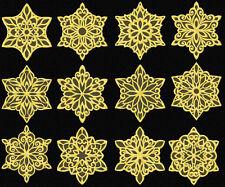 "Snowflakes #4 10 Machine Embroidery Designs set 4""x4"""