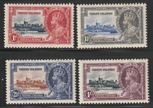 Virgin Islands   1935   Sc # 69-72   Silver Jubilee   MLH   OG   (4044-1)