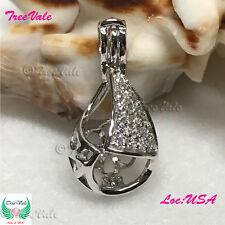Forever Teardrop Pearl Pendant - 925 Sterling Silver - Fun Gift!!