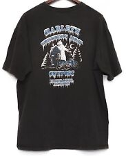 USA Made 3XL Harley Davidson Fairbanks Alaska Black Short Sleeve Shirt Wolf Bear