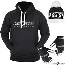 JAPSPEED EVOLUTION HOODIE MECHANIC GLOVES BEANIE BOBBLE WINTER CLOTHING BUNDLE