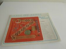 1975 Macrame,String And Beads Paperback Creative Patterns Book