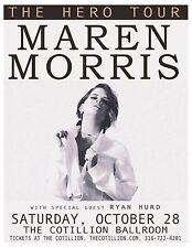 "MAREN MORRIS ""THE HERO TOUR"" 2017 WICHITA CONCERT POSTER- Country Pop, R&B Music"
