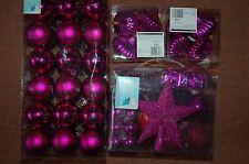 Nuevo 75 Rosa Irrompible Decoración del árbol Bolas Kit + 36 Redondo + 8 cebollas Navidad