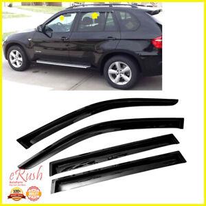 FOR 2011-2017 BMW X3 F25 SMOKED WINDOW VISOR SUN WIND DEFLECTOR RAIN SHADE 4PCS