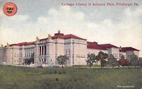 Pittsburgh Pennsylvania c1910 Postcard Carnegie Library in Schenley Park