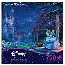 Thomas Kinkade 750 piece Disney Cinderella Dancing in the Starlight Puzzle NEW