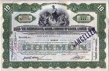 International Nickel Company of Canada Stock Certificate Green