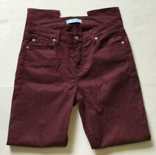 7 FOR ALL MANKIND JEANS B(AIR) DENIM ANKLE SKINNY MULBERRY BURGUNDY TAG 27 - 29