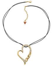 GUESS Collar / Collar UBN71265 textil con Dorado Corazón