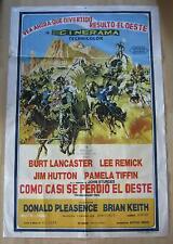movie poster The Hallelujah Trail / Como Casi Se Perdio El Oeste