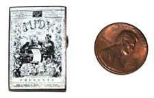 1869 French Victorian Enamel Miniature Judy Magazine Brooch Antique Depose punch