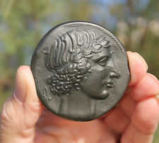 French medaille; Ancient Sicily, Leontinoi, Apollo, Greek tetradrachm