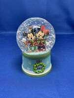2012 Disney Store Mickey Minnie Mouse Holiday Christmas Snow Globe Collectible