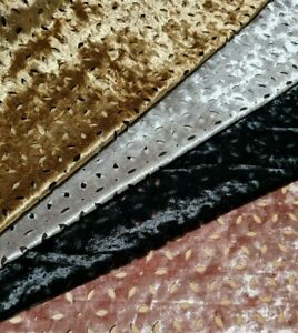 VELVET JERSEY FABRIC   PERFORARED STRETCH PLUSH - SOLD BY THE METRE