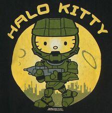 Halo Kitty Mashup Video Game First-Person Shooter Hello Kitty Sanrio T-Shirt XXL