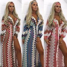 Women Boho Maxi Long Dress Evening Cocktail Party Summer Beach Sun Dress New