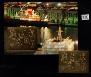 # GUYANA - MNH - IMPERF - GOLD - MOZART, EINSTEIN, ART, MUSIC, CHESS